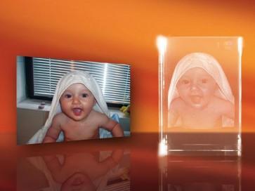 3D Laser Foto en el Cristal Viamant en formato Rectángulo 110mm