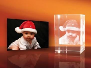 3D Laser Foto en el Cristal Viamant en formato Rectángulo 80mm