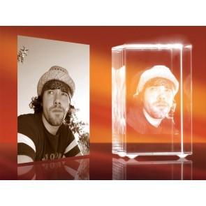 3D Laser Foto en el Cristal Viamant en formato Rectángulo 56mm